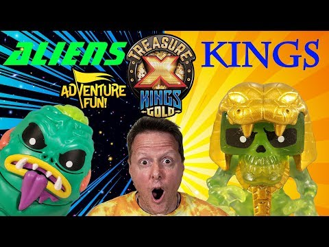 Treasure X Aliens Vs Kings Gold And REAL GEM Treasure Adventure Fun Toy Review!