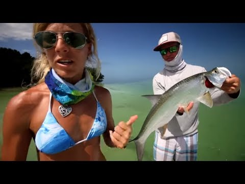 Flats Fishing For Tarpon & Lemon Sharks In The Florida Keys