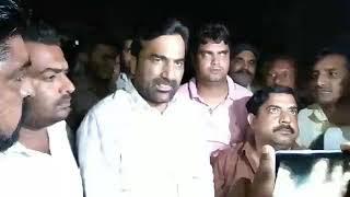 Hanuman beniwal.हनुमानगढ़ पहुचे हरवीर सहारण हत्याकांड के विरोध में रावतसर गाँव