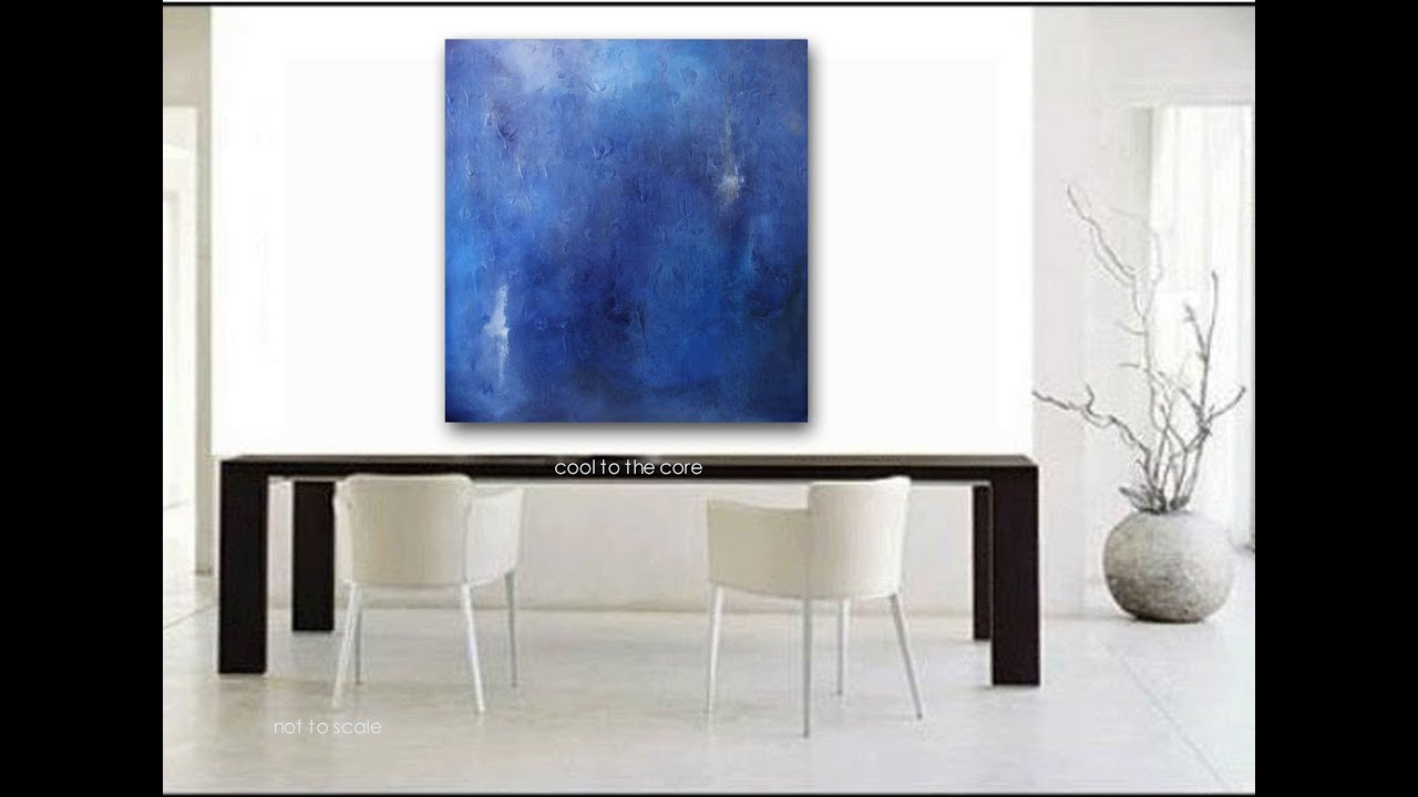 Blue Canvas Art Diy: Cool To The Core Modern Abstract Art