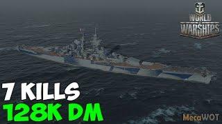 World of WarShips | République | 7 KILLS | 128K Damage - Replay Gameplay 1080p 60 fps