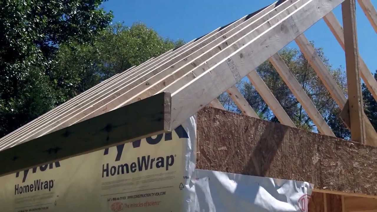 Diy Shed Part 4a Roof Framing Youtube