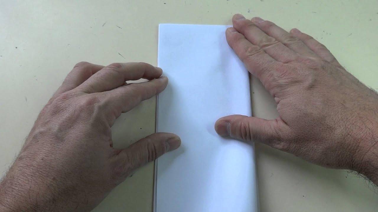 doblar papel en tres partes