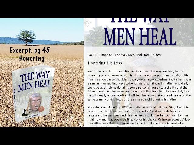 Excerpt: The Way Men Heal  - Healing through Honoring