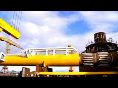 Dogger Bank met. mast installation