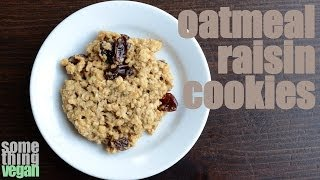 Oatmeal Raisin Cookie Recipe (gluten Free, Vegan) Something Vegan