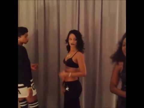 Rihanna Twerks To TPain Up Down Song Original