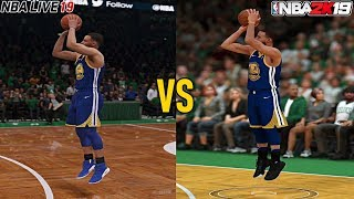 NBA 2K19 vs NBA Live 19 Graphics Comparison (PS4 Pro)