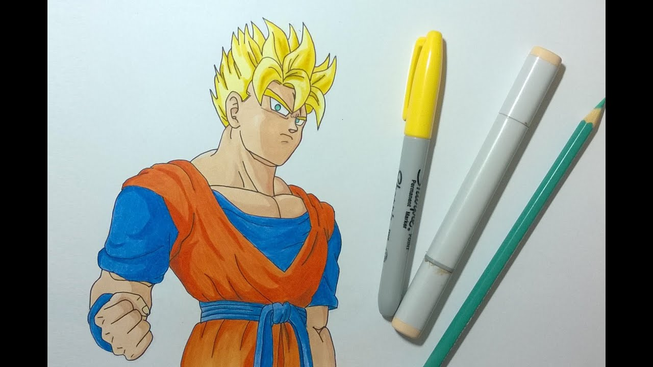 Drawing Future Gohan Super Saiyan Dragon Ball Z Youtube