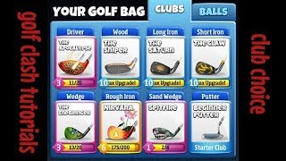 Golf clash what clubs to upgrade from beginner to master.