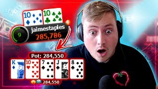 $82 WARM UP FINAL TABLE!! + GAME CHANGING NEW FEATURE? | PokerStaples Stream Highlights