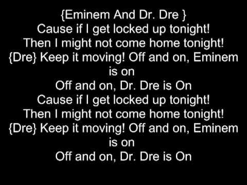 Eminem If I get Locked Up Tonight Lyrics