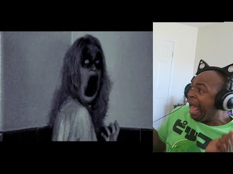 REACTING TO SCARY GHOST VIDEO'S!!!