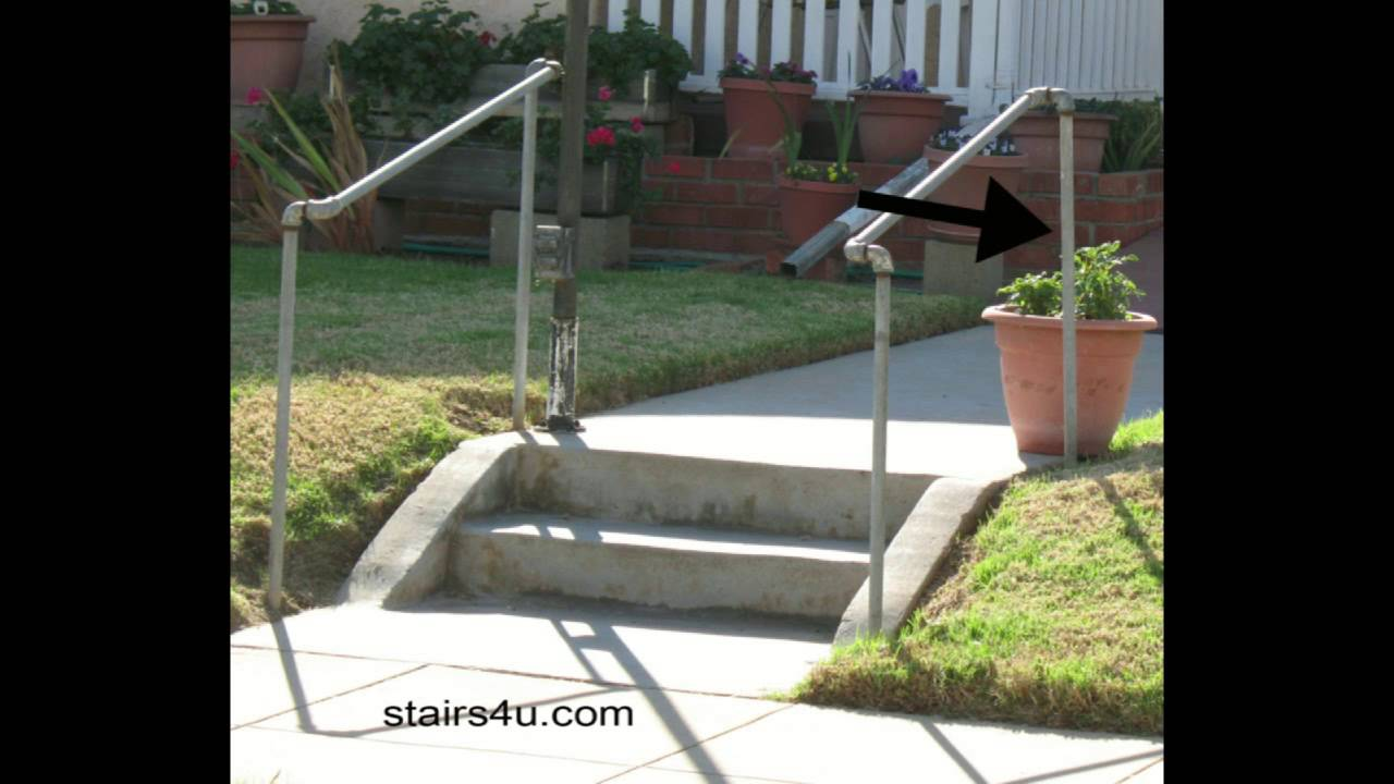 The Cheapest Exterior Stair Handrail Money Saving Ideas Youtube | Outside Handrails For The Elderly | Foshan Demose | Industrial Handrail | Metal Stair Handrail | Front Porch | Wrought Iron