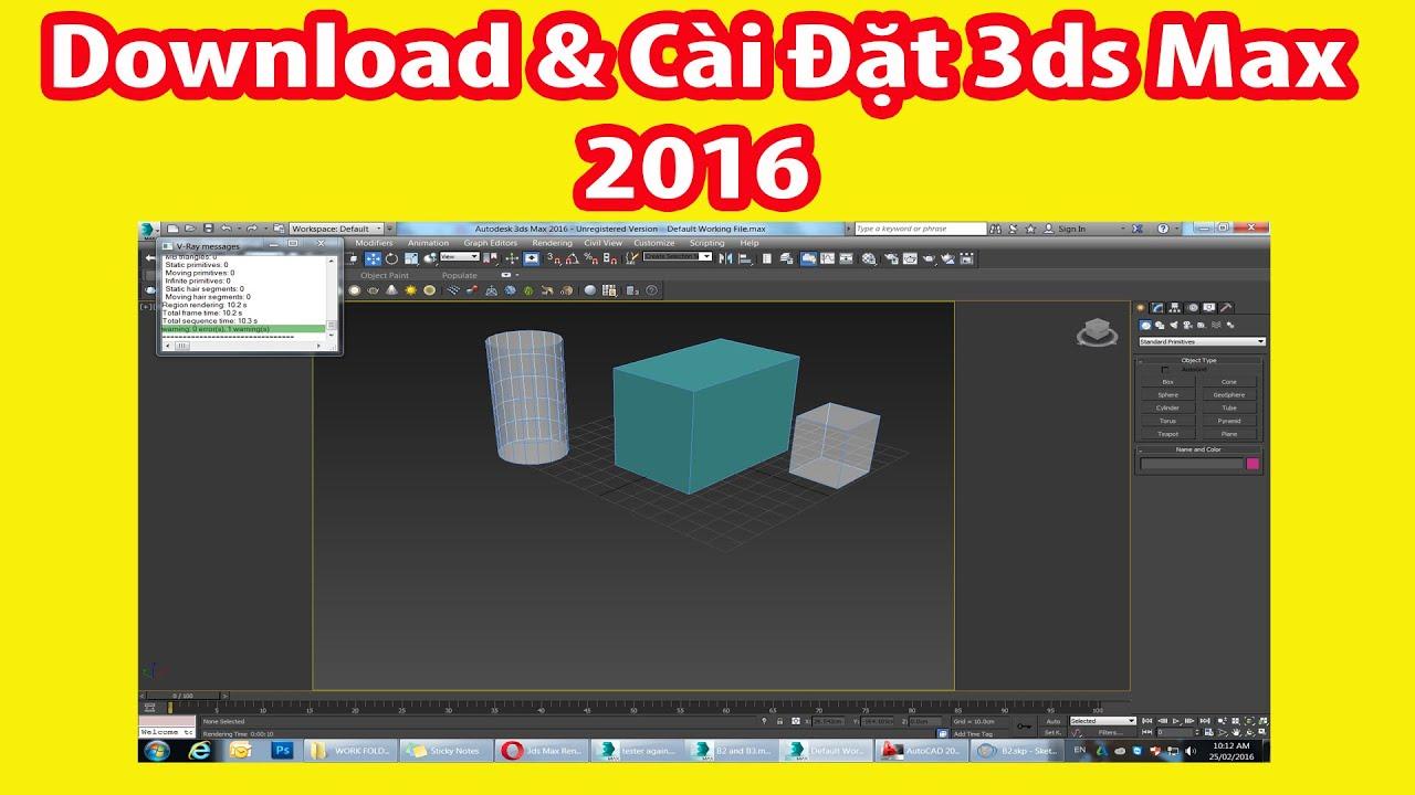 Download Và Cài 3ds Max 2016 64bit Link Google Drive