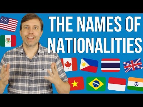 The Names of Different Nationalities | Learn English Demonyms