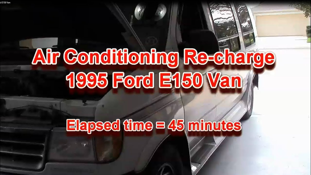 AC recharge on 1995 Ford E150 Van mov