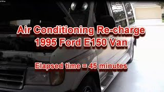 AC recharge on 1995 Ford E150 Van.mov