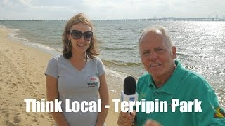 Think Local - Shorts and Sandals At Terrapin Park Beach