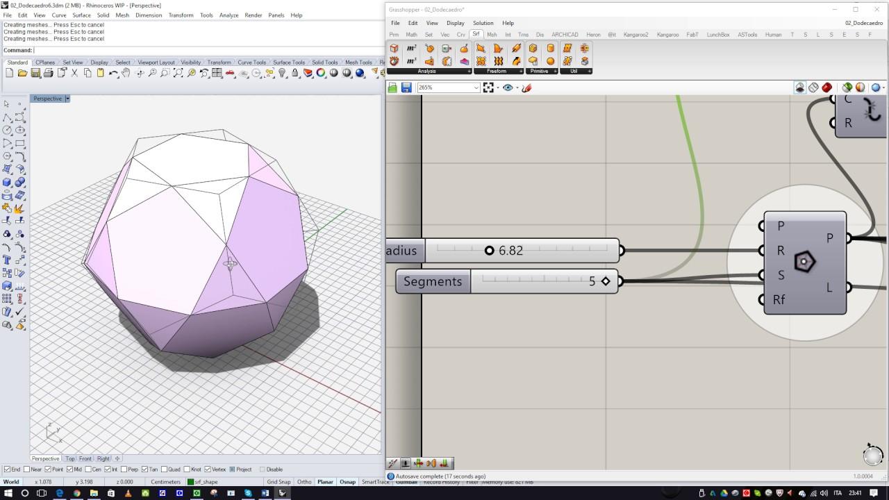 Polyhedra with Grasshopper