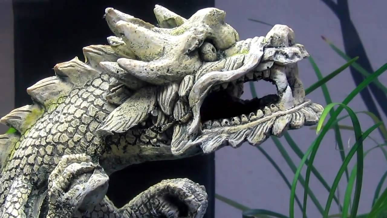 Dragon fish tank ornament -  Out Of The Dragon S Mouth