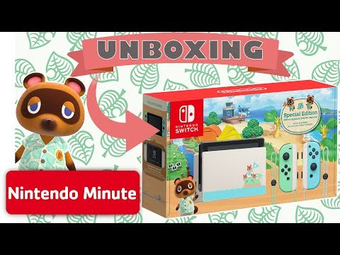 UNBOXING! Nintendo Switch Animal Crossing: New Horizons Edition