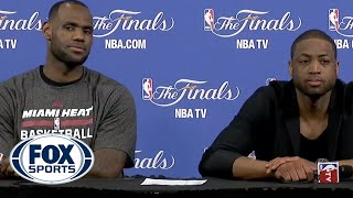 LeBron laughs at reporter's awkward question