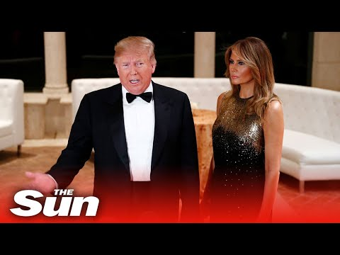 Donald Trump warns Iran war with US is a 'bad idea' at New Year's Eve ball at Mar-a-Lago