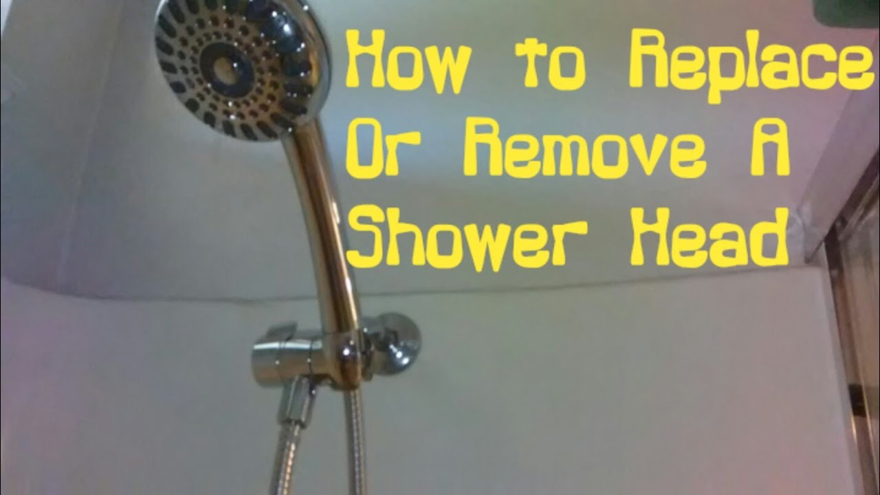 how to install or remove a shower head assembly youtube. Black Bedroom Furniture Sets. Home Design Ideas