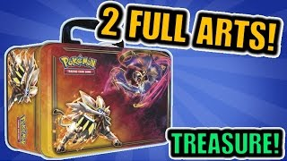 2 FULL ARTS!? Opening a Pokemon Sun and Moon Lunch Box Treasure Chest Tin | Pokemon Cards Opening!