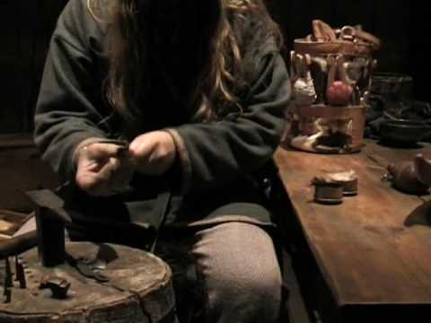 How the vikings make fire with flint and steel - Lofotr Viking Museum (2006)