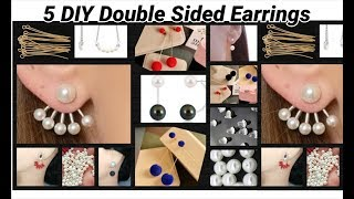 5 DIY Double Sided Earrings Making at home