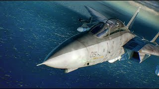 ACE COMBAT 7 E32017: PS4 GAMEPLAY 1080P (F-14 TOMCAT)