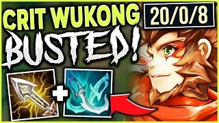 NEW CRIT ITEMS ARE BUSTED ON WUKONG?! | RANK 1 WUKONG CARRIES WITH CRITKONG - League of Legends