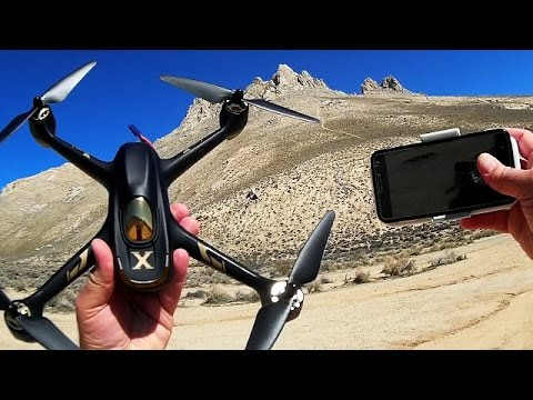 Hubsan H501A Phone Follow Me Selfie Drone Flight Test Review