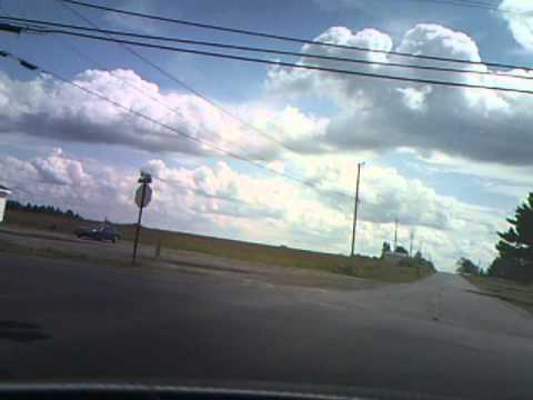 A drive from Development Drive in Loring to northern Limestone on Route 1A, Maine.wmv
