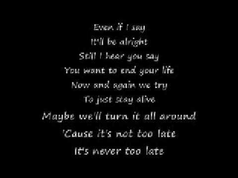 Three Days Grace – Never Too Late Lyrics   Genius Lyrics