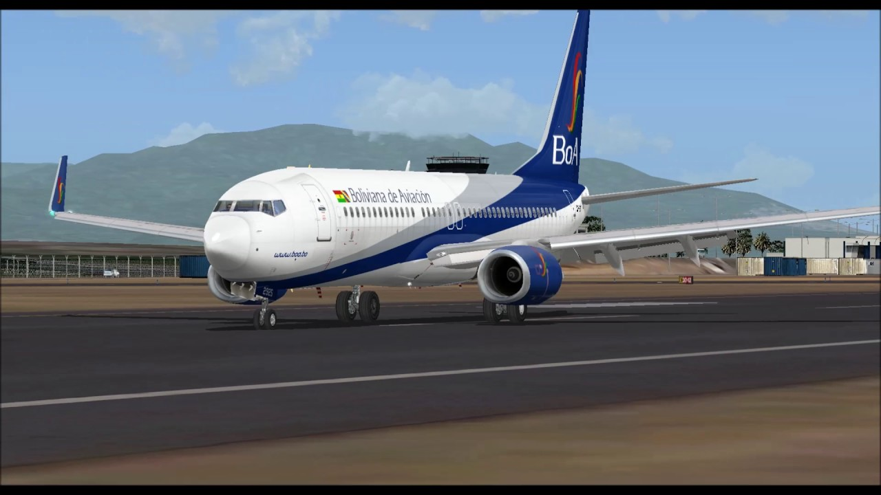 Boeing 737 800 Boliviana De Aviaci U00d3n Landing At Ponta