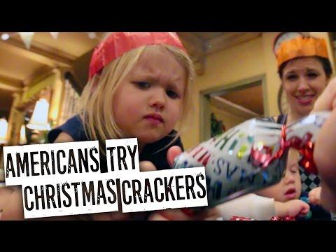 AMERICAN KIDS TRY CHRISTMAS CRACKERS