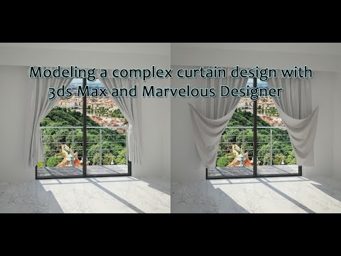 Modeling Curtains in 3ds Max and Marvelous Designer