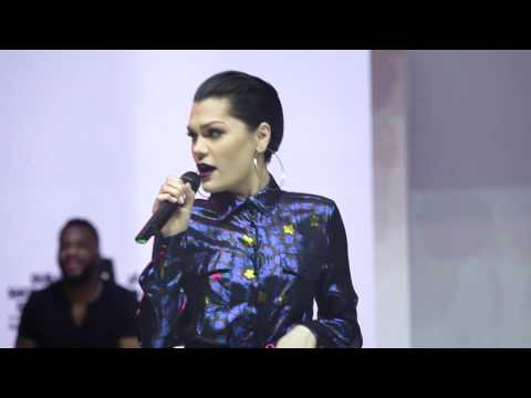 Jessie J performing live at Mall of the Emirates