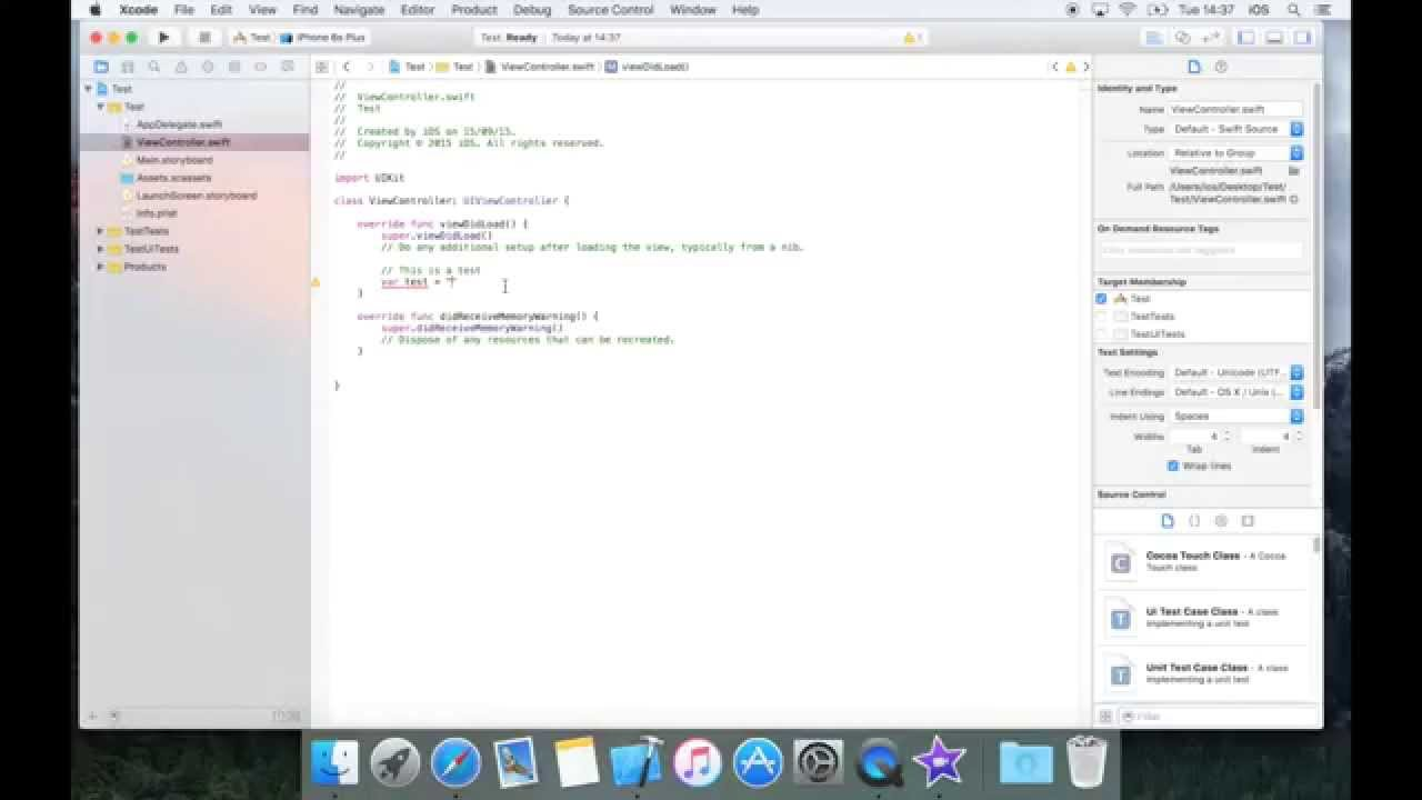 How To Build An Ios 9 App With Xcode 7, Part 1: Hello World!