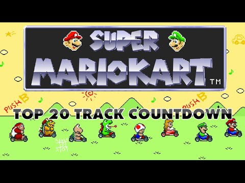 Super Mario Kart - Top 20 Tracks Countdown