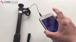 Wired Selfie Telescopic Stick  - How to use it with Android Phones