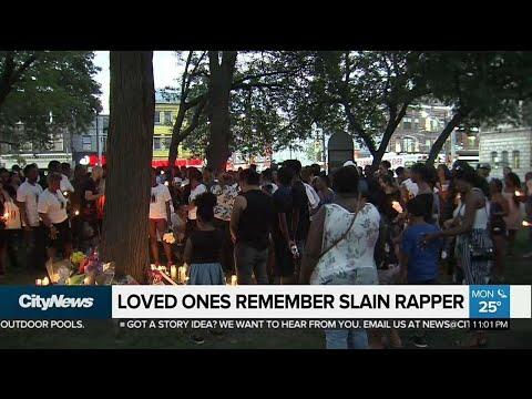 Memorial held for rapper slain in downtown shooting