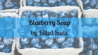Blueberry Soap | Drop Swirl Soap | Cold Process Soap by Kilted Suds