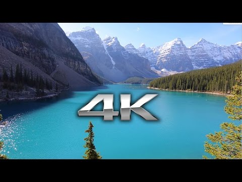 Endless Looping 4K Scene: Moraine Lake, Banff Alberta (Fixed Version - No Watermark)