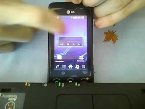 Тема Android 3.0 Honeycomb на LG KP500