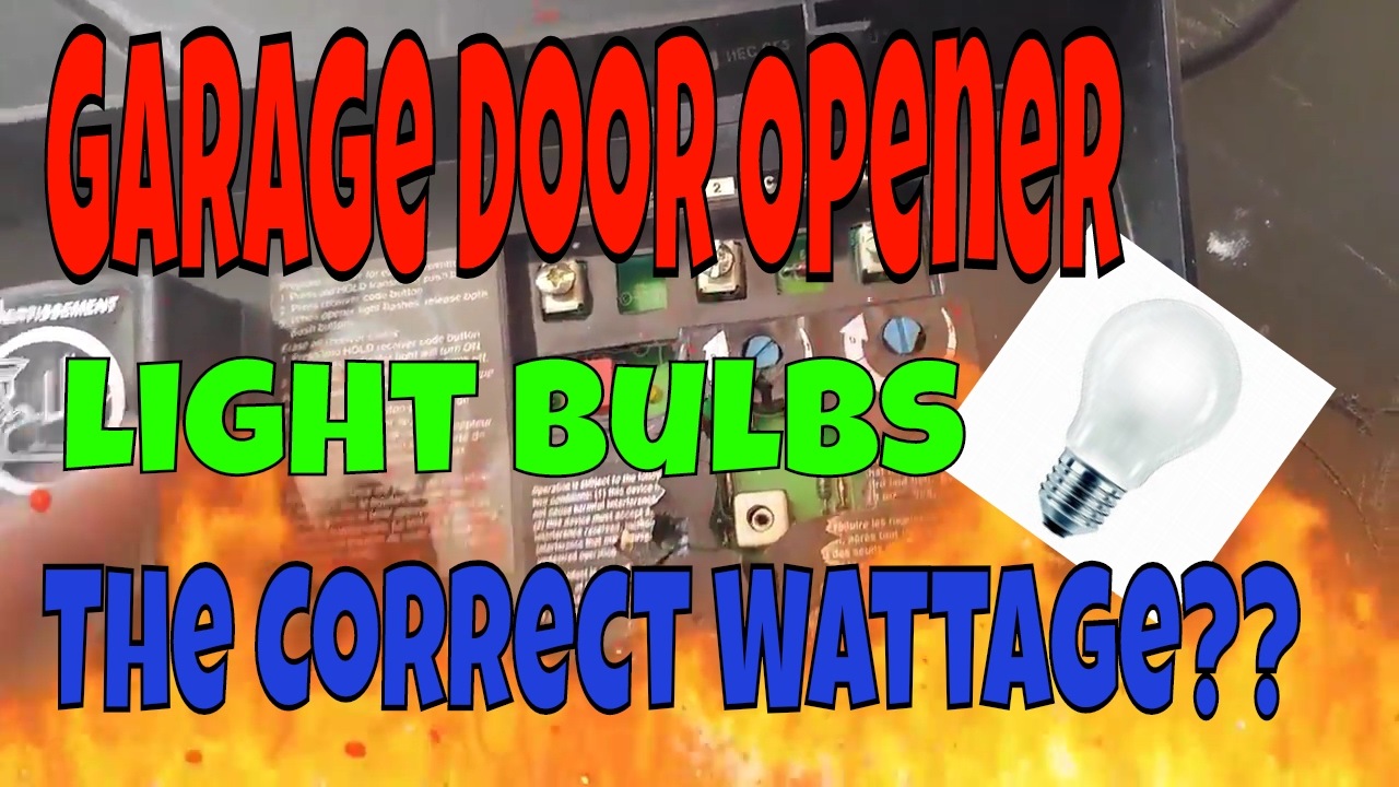 Garage Door Opener Light Bulb Can Cause Serious Damage Youtube