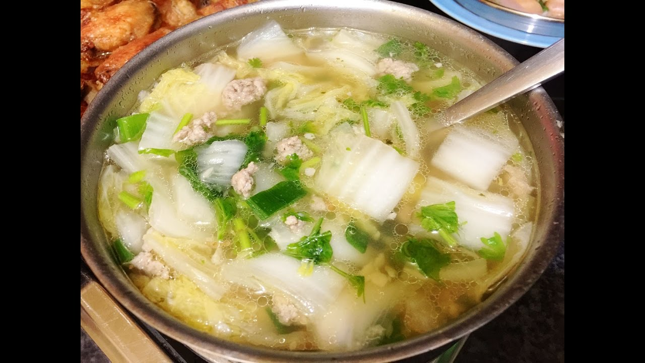 Soup recipes quick easy chinese cabbage soup recipe youtube forumfinder Choice Image